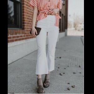 NWT SPANX Cropped Straight White Jeans US XS